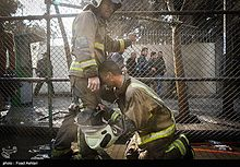 Fire Fighters in Iran-Plasco Building on Fire -2017-01.jpg
