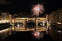 Fireworks over Ponte Vecchio.JPG