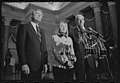First Lady Hillary Clinton, Speaker of the House Tom Foley, and House Majority Leader Richard Gephardt speak at a press conference at the U.S. Capitol.jpg