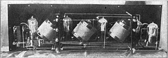 Neutrodyne - Image: First Neutrodyne radio receiver closeup