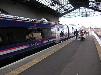 First ScotRail - Class 170 Turbostar in First ScotRail livery at Inverness