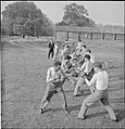 First US Army Rehabilitation Centre- Recuperation and Training at 8th Convalescent Hospital, Stoneleigh Park, Kenilworth, Warwickshire, UK, 1943 D16598.jpg