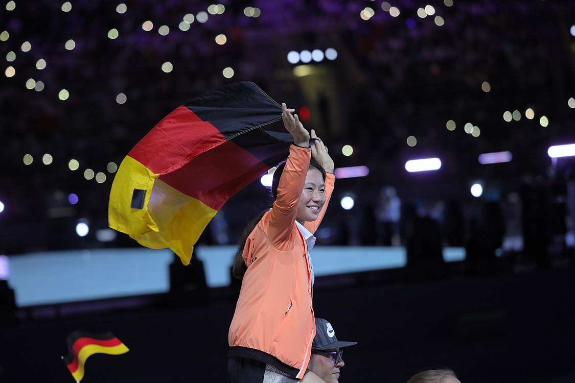 Flag of Germany on the 2017 Summer Universiade.jpg