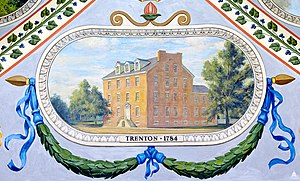 French Arms Tavern - Allyn Cox painting of the French Arms Tavern