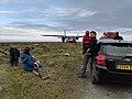 Flight disembarking at Foula Airfield.jpg