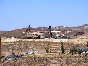 Goldfield, Nevada - The old Florence Hill Mines above Goldfield