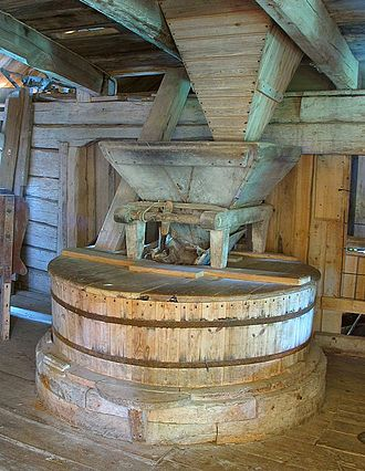 Gristmill - Grinding mechanism in an old Swedish flour mill