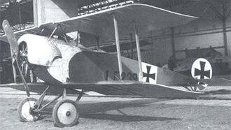 Fokker D.II - Image: Fokker biplane (1916)