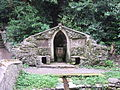 Folly temple and font, Plas Newydd.JPG