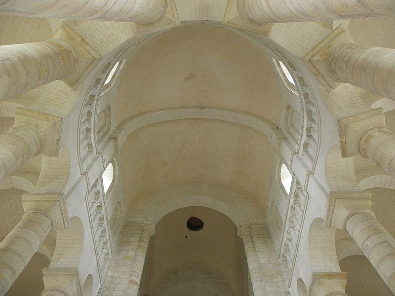 Voûtes et cul de four du chœur de l'abbatiale de Fontevraud (49).