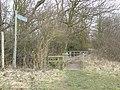 Footpath Gate towards Offord Mill - geograph.org.uk - 1183696.jpg