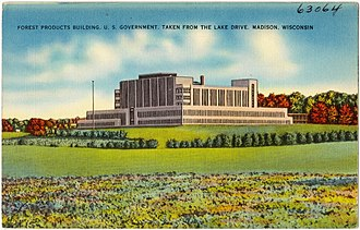 Forest Products Laboratory - The new Laboratory location, illustrated between the 1930s and 40s