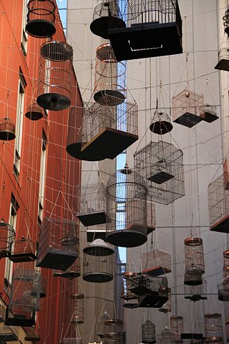 Birdcage - Birdcages used in the public artwork ''Forgotten Songs'', Sydney.