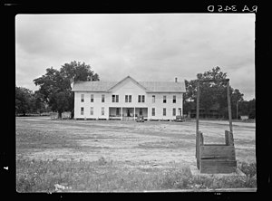 Irwinville, Georgia - The last courthouse in Irwinville, 1935