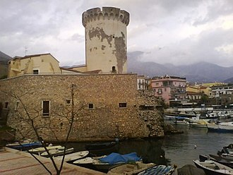 Formia - The tower of Mola Castle.