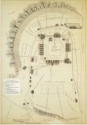 Battle of Fort Dearborn - Plan of Fort Dearborn drawn by John Whistler in 1808