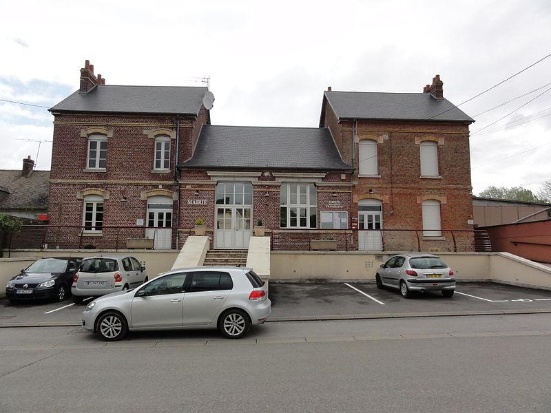 Fourdrain (Aisne) mairie - école