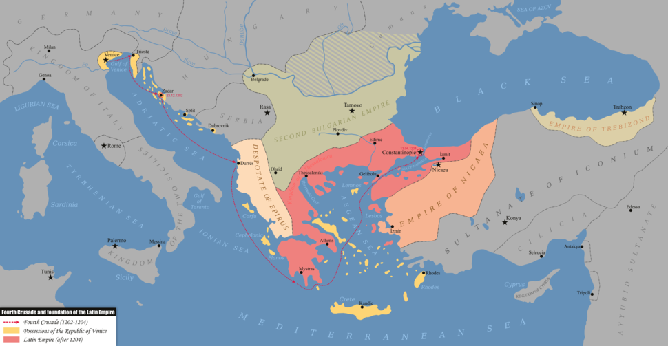 Fourth Crusade and foundation of the Latin Empire