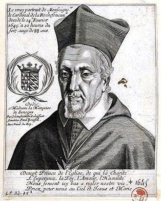 François de La Rochefoucauld (cardinal) - Image: François, cardinal de La Rochefoucauld (1567 1645)