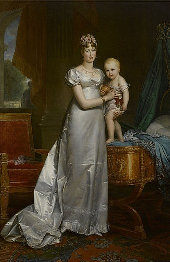 Empress Marie-Louise and her son Napoleon, King of Rome (by Francois Gerard, 1813) Francois Pascal Simon Gerard 004b.jpg
