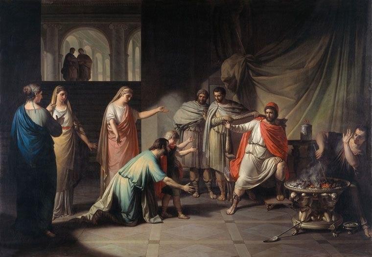 Franc Kavčič - Temistokles išče zatočišče pri kralju Admetu