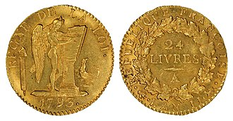 French livre - French 1793 24-Livre gold coin
