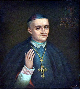 Roman Catholic Archdiocese of Los Angeles - Painting of Francisco García Diego y Moreno at the San Fernando Mission