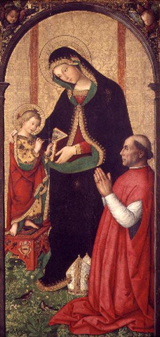 Madonna and Child with a Bishop - Image: Francisco de Borja