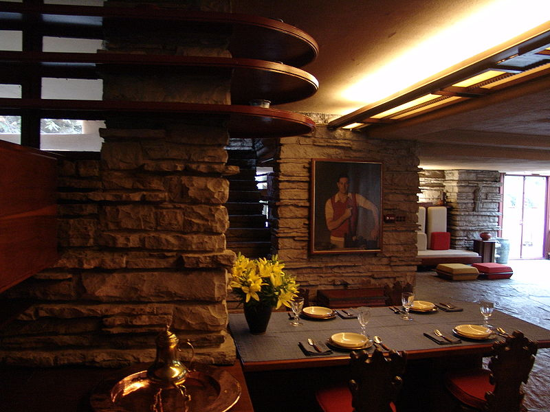 File:Frank Lloyd Wright - Fallingwater interior 8.JPG