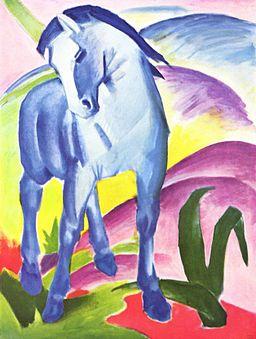 Franz Marc Niebieski koń I, 1911