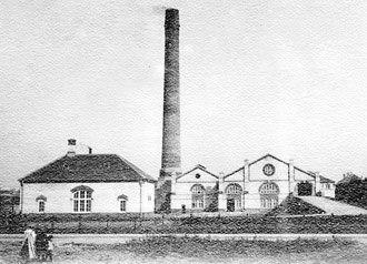 Frederiksberg Incineration Plant - Frederiksberg Incineration Plant in c. 1910, still surrounded by open countryside