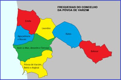mapa povoa de varzim Geografia da Póvoa de Varzim – Wikipédia, a enciclopédia livre mapa povoa de varzim