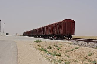 Rail transport in Afghanistan - Freight train in northern Balkh Province