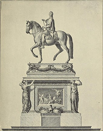 Design by Edme Bouchardon for statue of the King on Place Louis XV French architects and sculptors of the XVIIIth century (1900) (14578206667).jpg