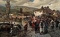 Friedrich Alois Schönn - An der lateinischen Brücke in Sarajewo - 171 - Österreichische Galerie Belvedere.jpg