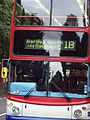 Front of bus, Pershore Road South, Kings Norton.JPG