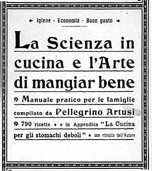 Pellegrino Artusi - Cover from a 1910 edition of La scienza in cucina e l'arte di mangiar bene.