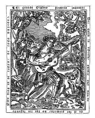 Luis de Milán - Frontispiece to Libro de música de vihuela de mano intitulado El maestro