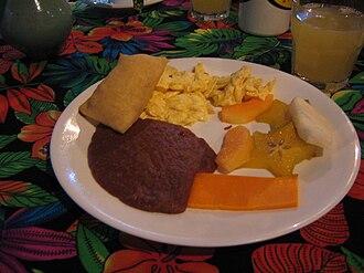 Belizean cuisine - A traditional Belizean breakfast.