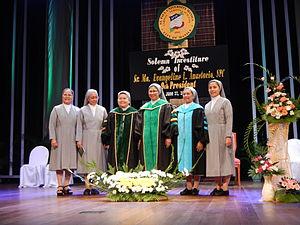 St. Paul University Manila - 9th President, Sr. Ma. Evangeline L. Anastacio, SPC, Solemn Investiture, Installation June 27, 2014, Sr. Lilia Thérèse L. Tolentino, SPC