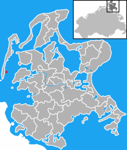 Location of the Gänsewerders before Hiddensee and Rügen