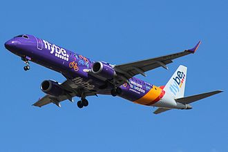 "Flybe - Flybe Embraer 195 in the ""Welcome to Yorkshire"" livery."