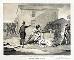 Lithograph of the Martyrdom of Joseph Smith, Jr.