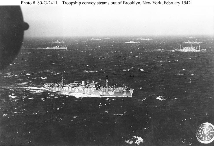G2411 troopship convoy 1942