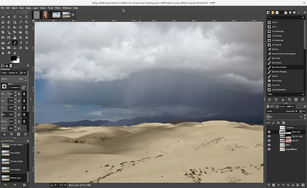 A screenshot of GIMP, which is a raster graphics editor. GIMP 2.10.jpg