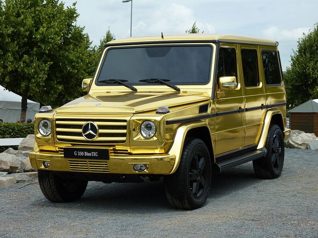 Gold Brown Car Paint