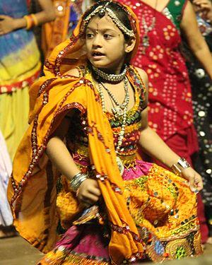Garba (dance) - Little girl dressed in Gagra choli.