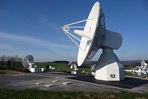 Galileo (satellite navigation) - Galileo IOT L-band antenna at ESTRACK Redu Station