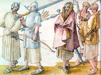 Irish people - Gaelic Irish soldiers in the Low Countries, from a drawing of 1521 by Albrecht Dürer