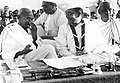 Gandhi and Bose at the Indian National Congress, 1938.jpg